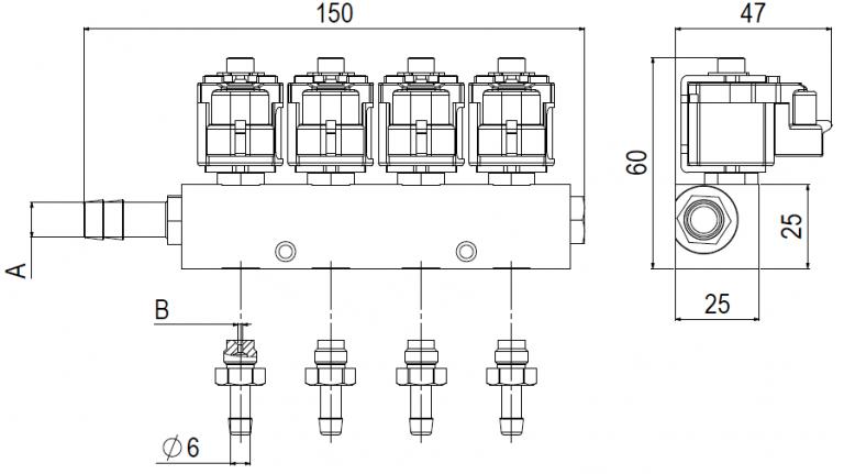 Rail Valtek LPG Injector